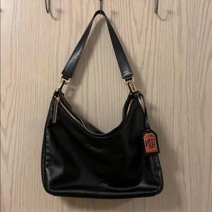 Lauren Ralph Lauren black slouchy hobo bag